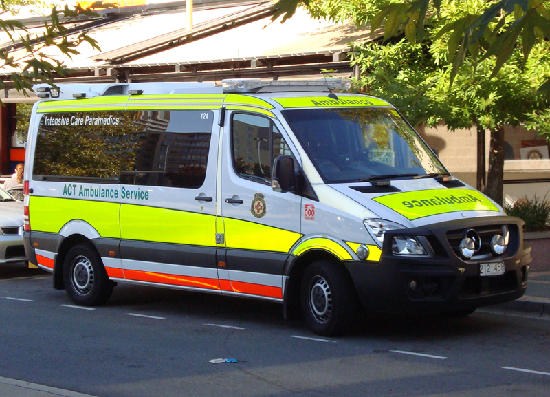 act ambulance service vehicles